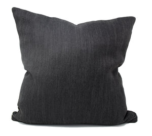 Midnight Black Linen Pillow Cover