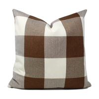 Brown Buffalo Plaid Pillow Cover