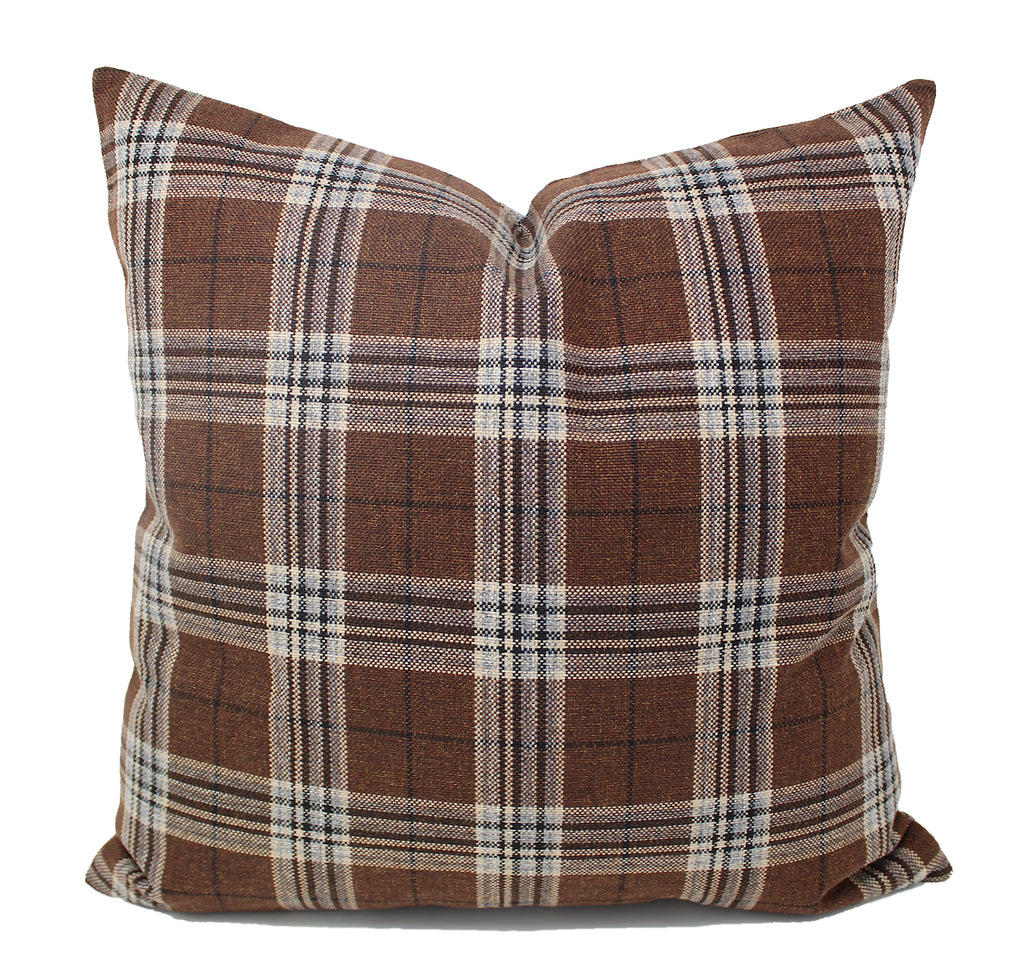 Brown Plaid Pillow Cover