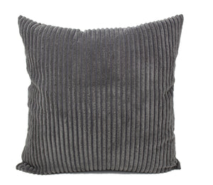 Ash Gray Corduroy Pillow Cover