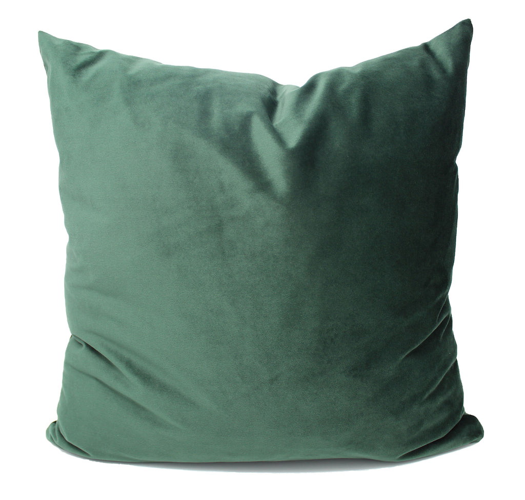 Forest Green Velvet Pillow Cover