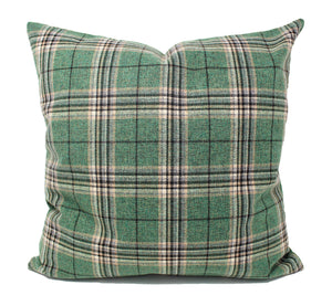 Green Plaid Pillow Cover