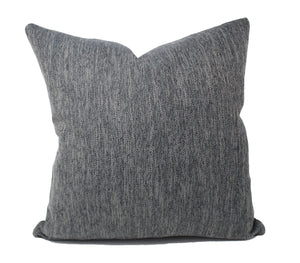 Blue-Gray Linen Pillow Cover