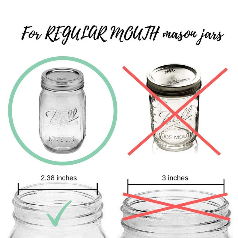 Mason Jar Soap Dispenser Lids | Work well with hand soap, dish soap, lotion, laundry detergent, and more | Perfect for Rustic or Modern Farmhouse Bathrooms and Kitchens