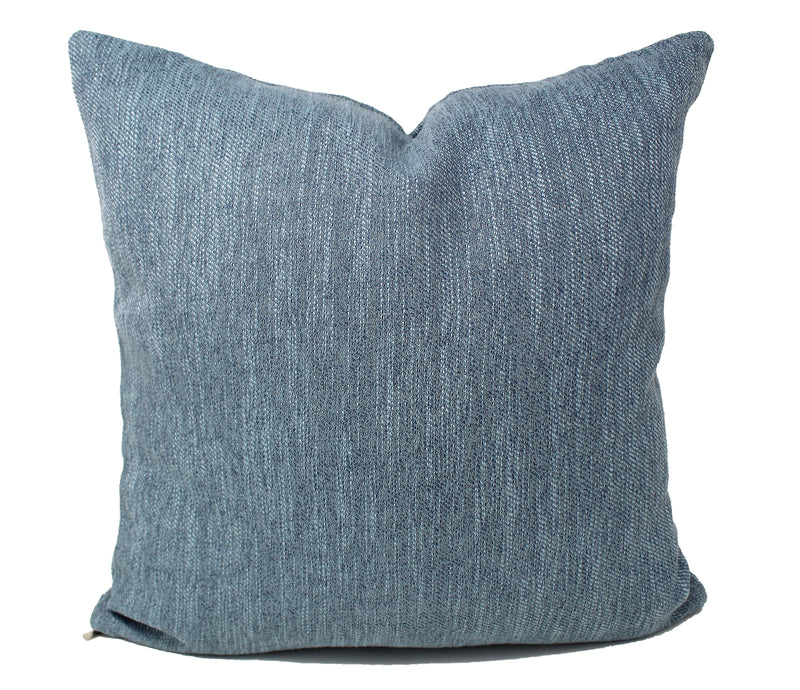 Light Blue Linen Pillow Cover