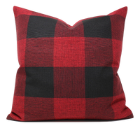 Red/Black Buffalo Plaid Pillow Cover