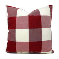 Red/White Buffalo Plaid Pillow Cover