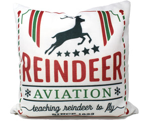 Reindeer Aviation Double Sided Pillow Cover