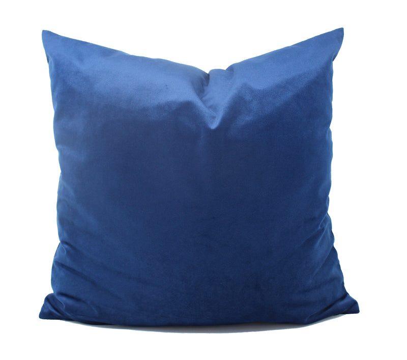 Royal Blue Velvet Pillow Cover