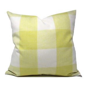 Yellow Buffalo Plaid Pillow Cover