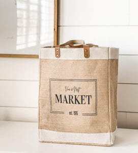 jute tote bag, grocery bag, reusable bag, quality tote bag