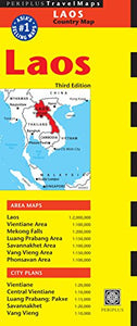 Laos Travel Map Third Edition (Periplus Travel Maps)
