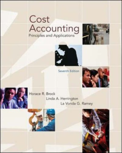 Cost Accounting: Principles And Applications