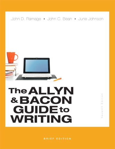 The Allyn & Bacon Guide To Writing, Brief Edition (7Th Edition)