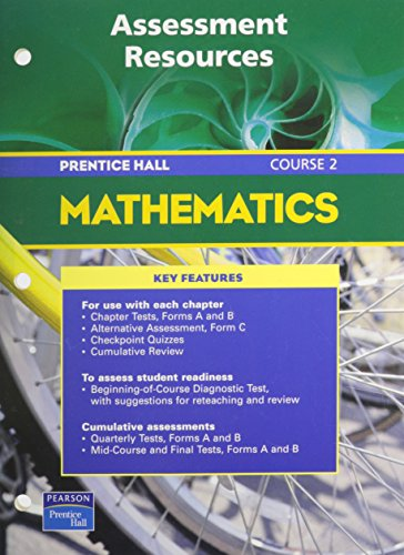 Prentice Hall Math Course Assessment Resources Blackline Masters 5Th    Edition 2004C