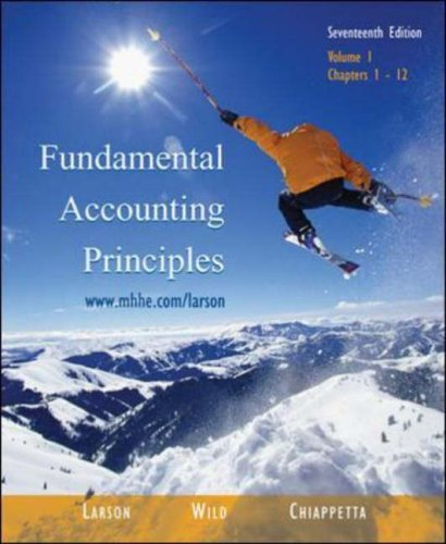 Fundamental Accounting Principles Vol. 1