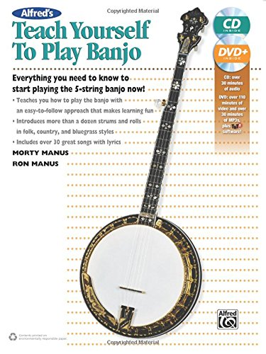 Alfred'S Teach Yourself To Play Banjo: Everything You Need To Know To Start Playing The 5-String Banjo, Book, Cd & Dvd (Teach Yourself Series)