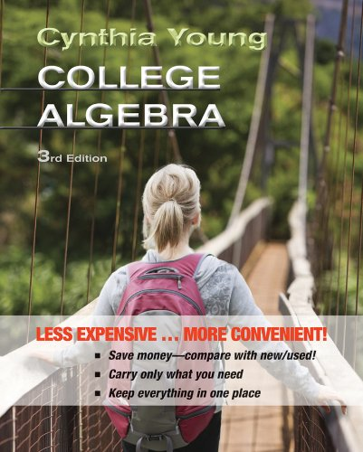 College Algebra 3E Binder Ready Version With Wileyplus Card Set