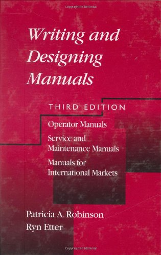 Writing And Designing Manuals, Third Edition