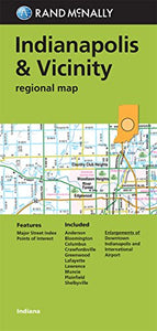 Folded Map: Indianapolis And Vicinity Regional Map