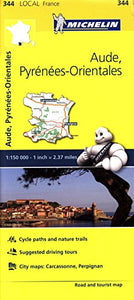 Michelin France Aude, Pyrnes-Orientales Map 344 (Maps/Local (Michelin))