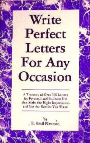 Write Perfect Letters For Any Occasion