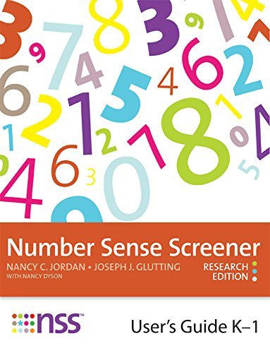 Number Sense Screener (Nss) User'S Guide, K1, Research Edition