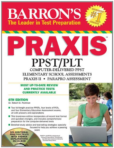 Barron'S Praxis With Cd-Rom, 6Th Edition (Barron'S Educational Series)