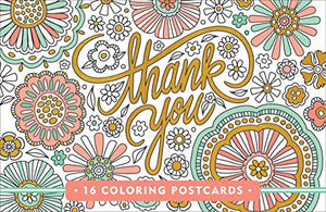 Thank You Coloring Postcards (Gold Foil On Every Card!)