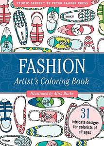 Fashion Portable Adult Coloring Book (31 Stress-Relieving Designs)