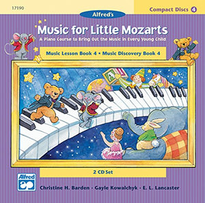 Music For Little Mozarts 2-Cd Sets For Lesson And Discovery Books: A Piano Course To Bring Out The Music In Every Young Child (Level 4), 2 Cds