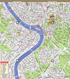 Streetsmart Rome Map By Vandam -- Laminated, Highly Legible Folding City Street And Subway Map To Rome, Italy With Attractions, Museums, Sights, ... 2018 (English, Italian And German Edition)