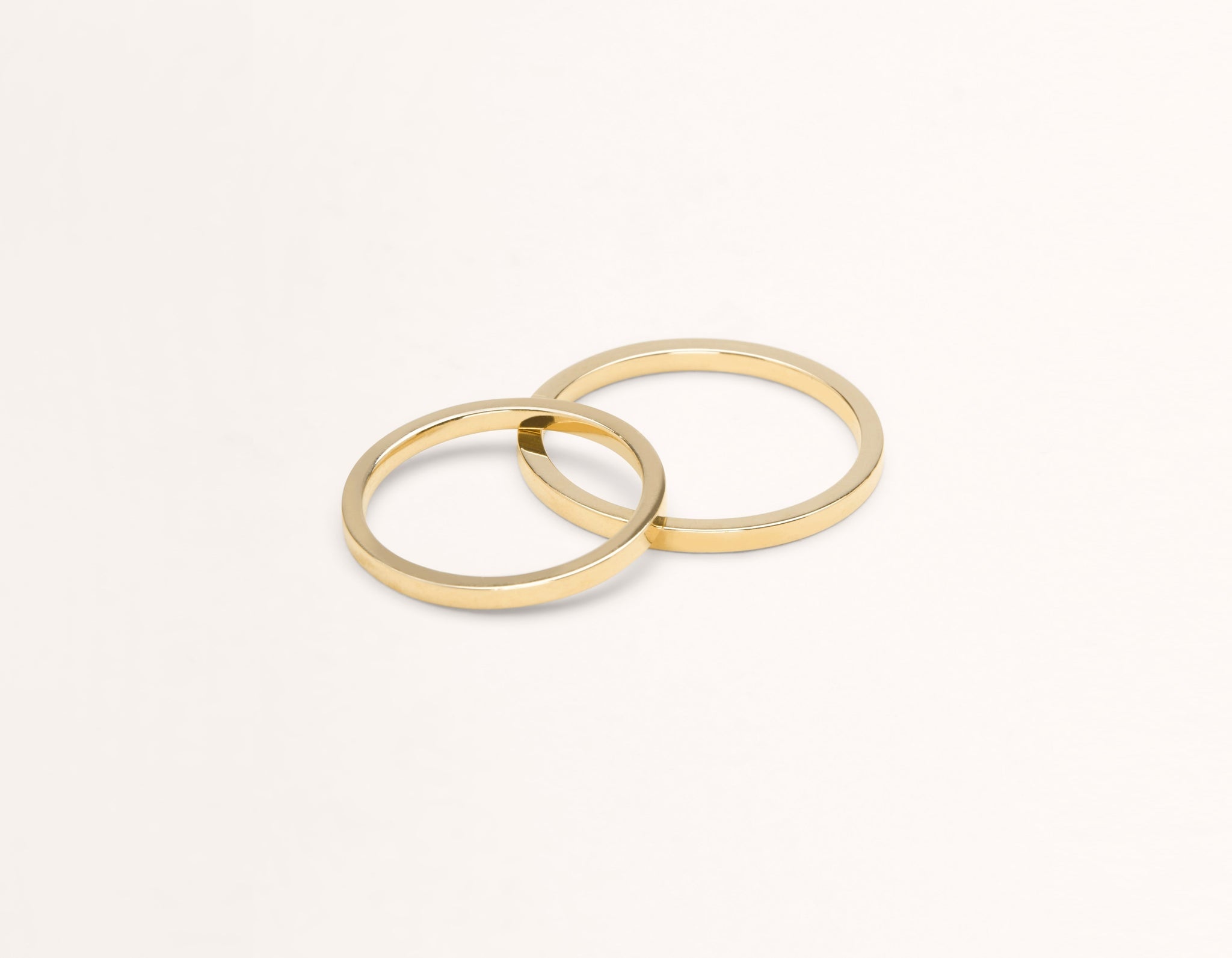 Vrai & Oro 18k solid yellow gold Wedding Band 1.5 Flat unisex simple classic band