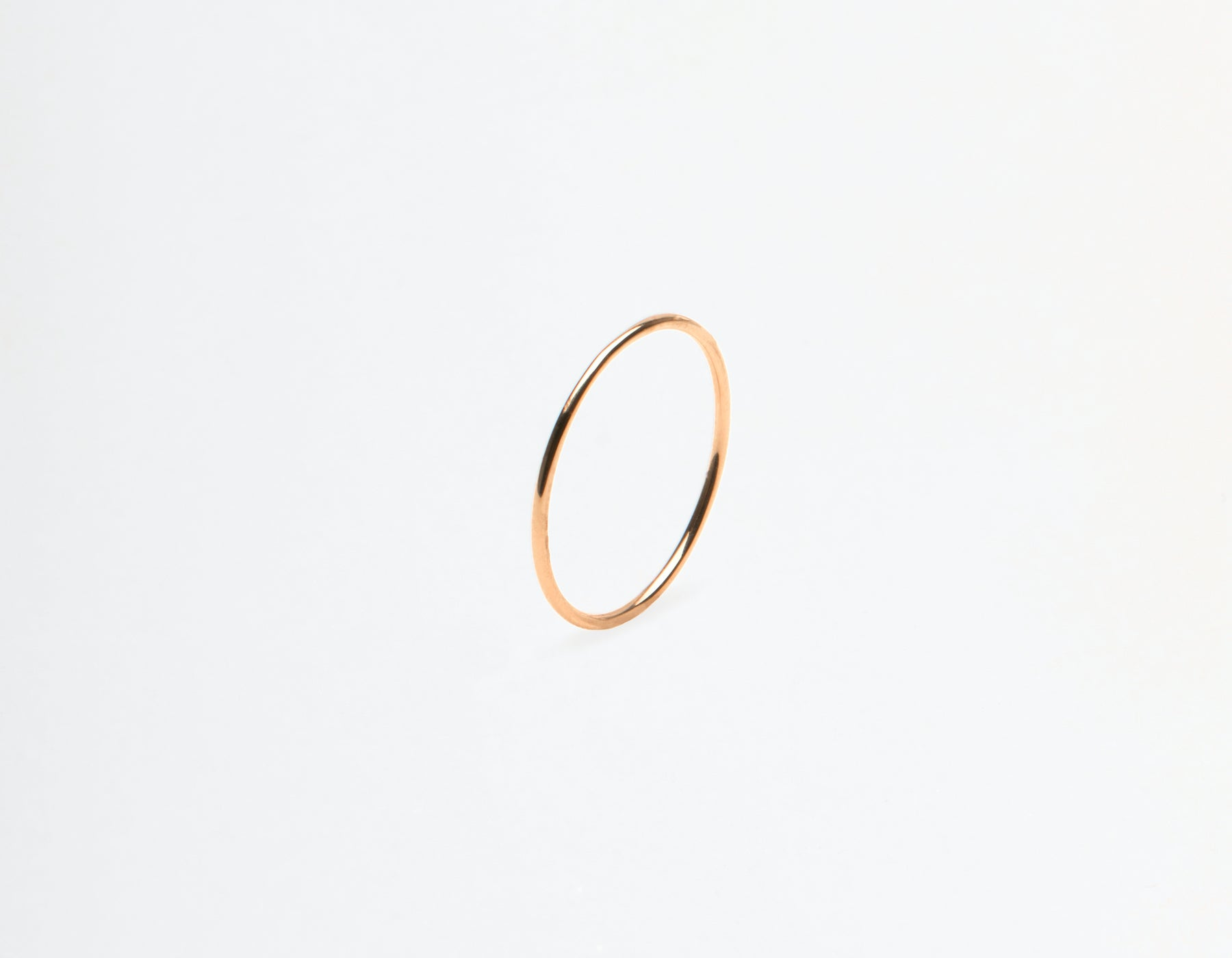 Vrai and Oro 14k solid gold Skinny Stacking Ring single minimalist band, 14K Rose Gold
