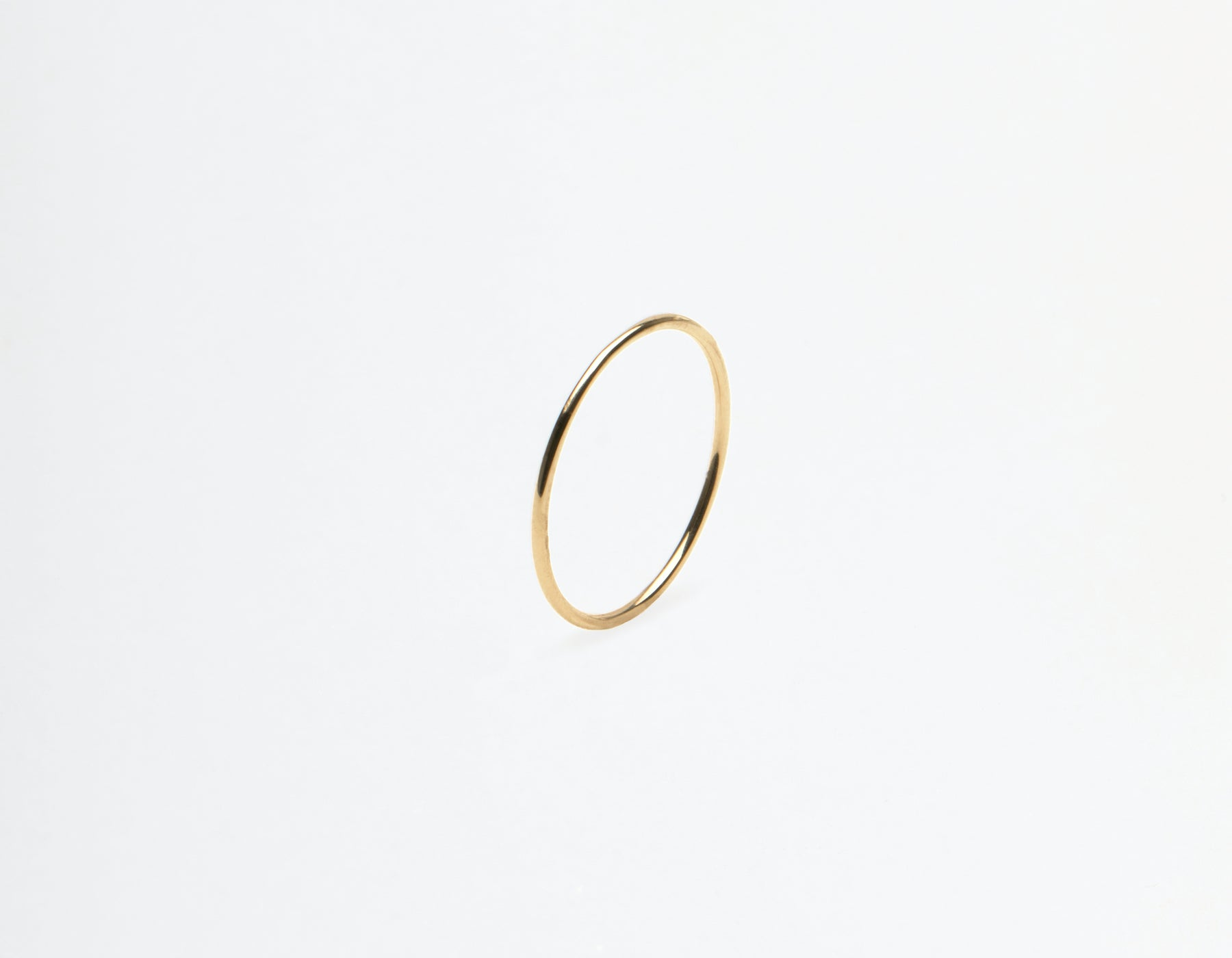 Vrai and Oro 14k solid gold Skinny Stacking Ring single minimalist band, 14K Yellow Gold