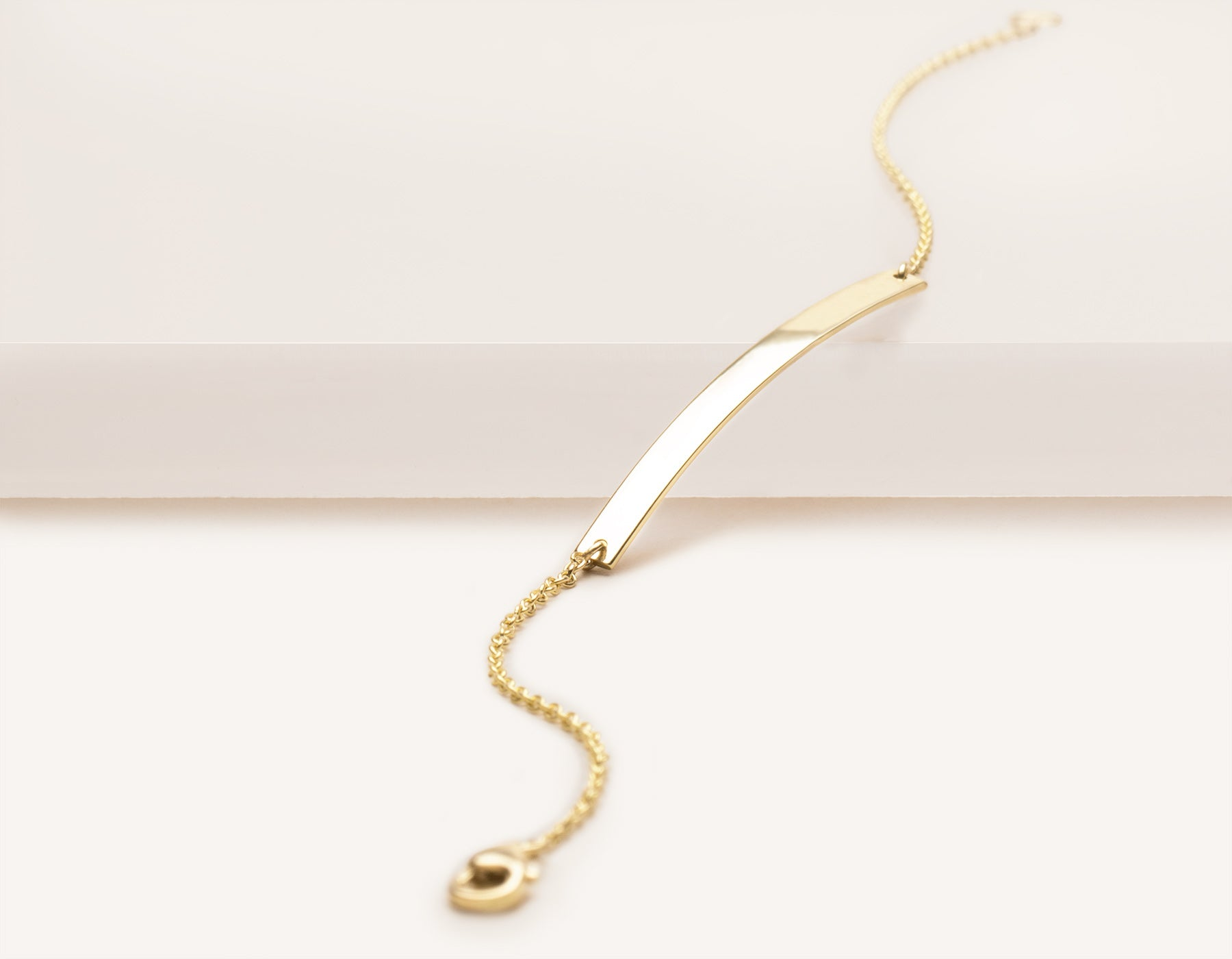 Vrai and oro modern minimalist 14k solid gold Lobster Bracelet clasp, 14K Yellow Gold