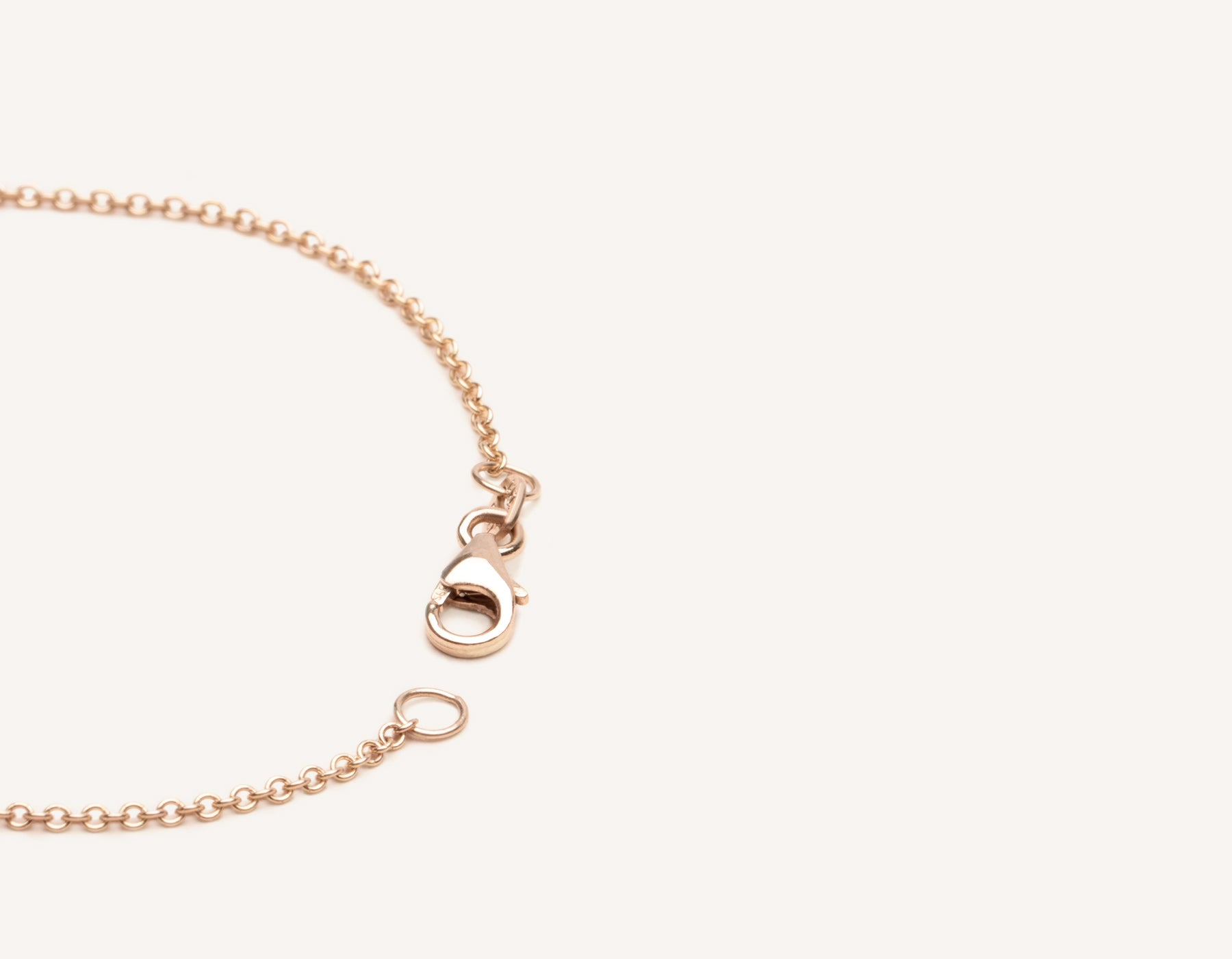 Vrai & Oro 14k solid gold bracelet lobster clasp on thin oval link chain, 14K Rose Gold