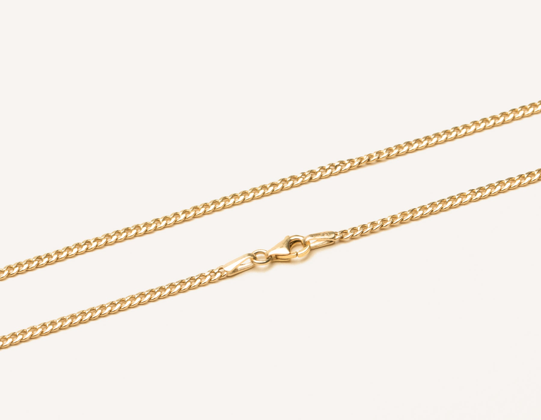 272ec8df21f Simple classic 14k solid gold Cuban Link Chain necklace with lobster clasp  by Vrai & Oro