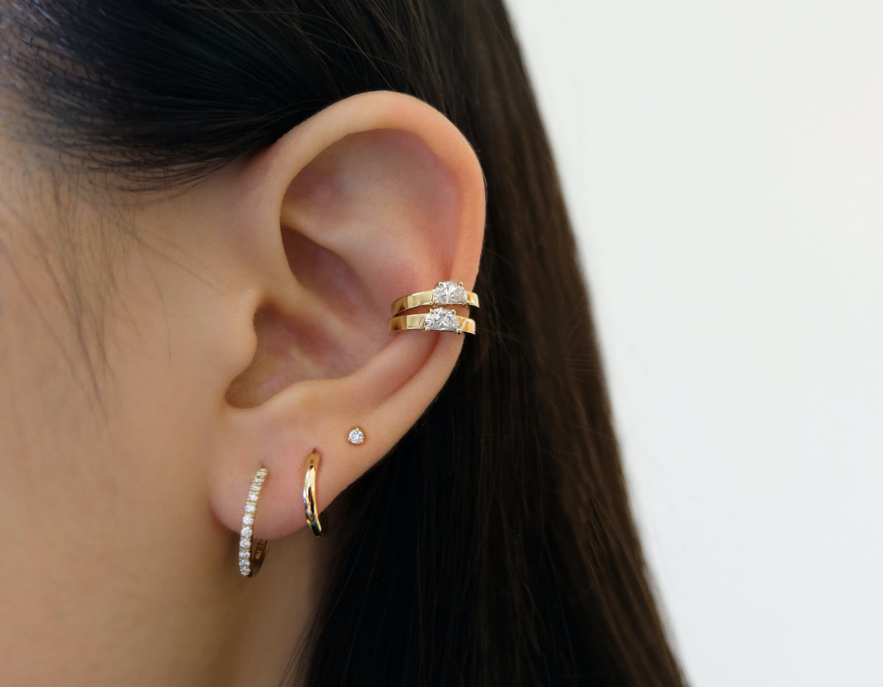 Half Moon Diamond Ear Cuff