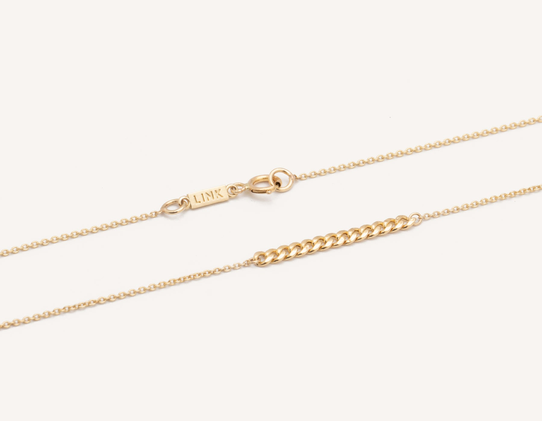 73a7594a3cf Simple classic chain 14k solid gold Interlink Necklace Vrai and Oro, 14K  Yellow Gold