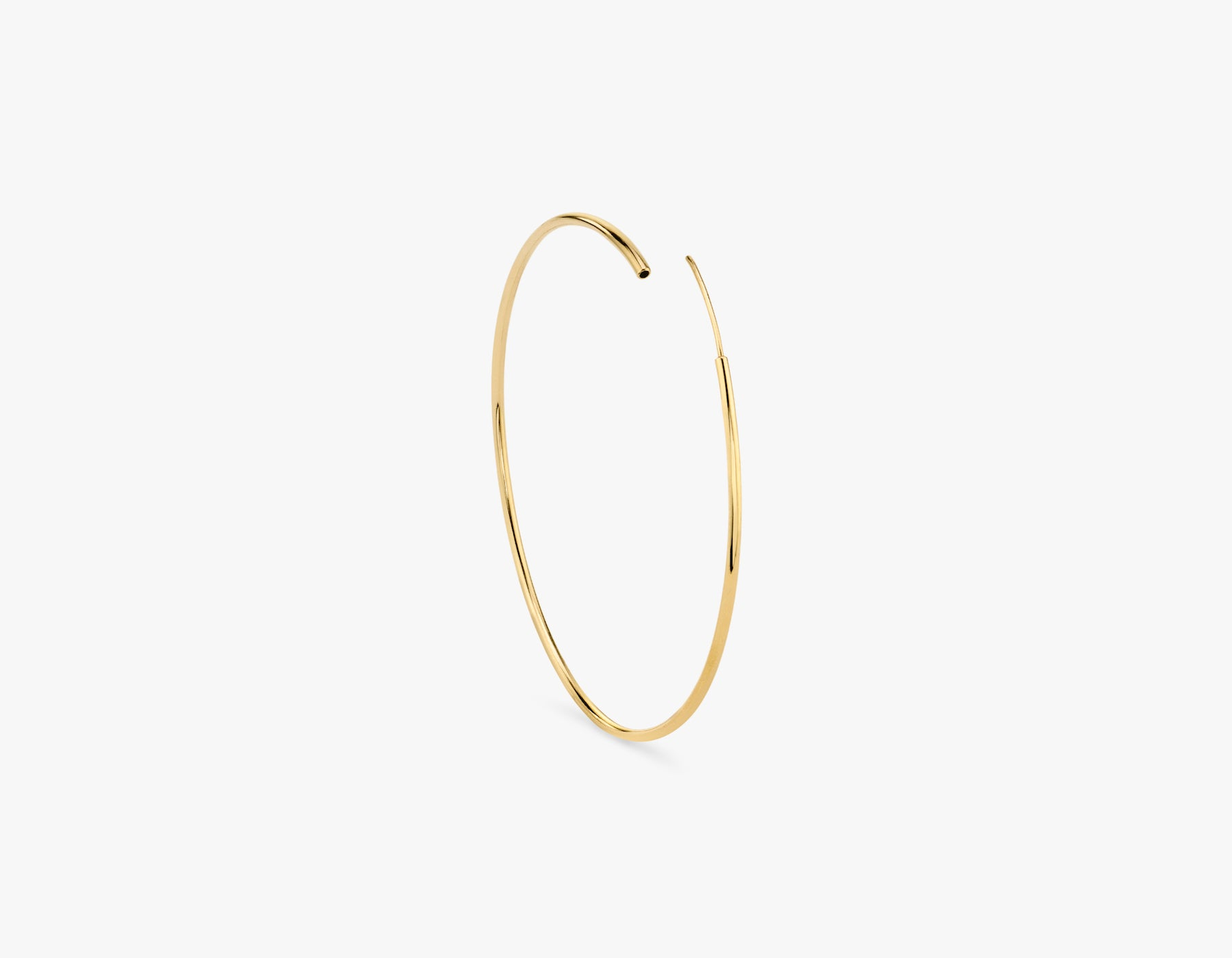 Vrai delicate classic 14k gold lightweight hoop earring, 14K Yellow Gold