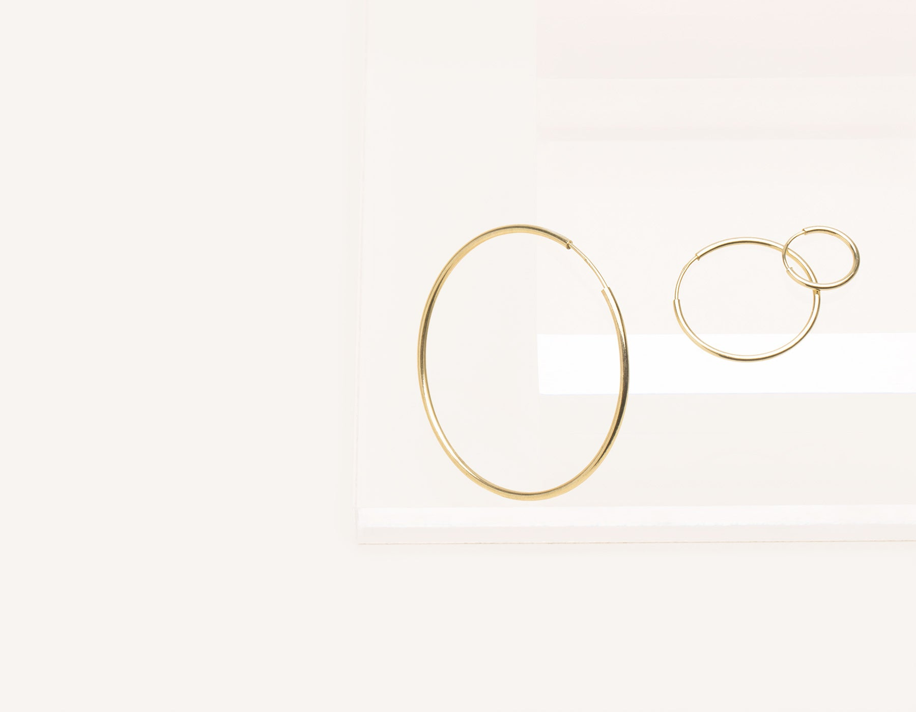 c0ff40d85 Simple classic thin Lightweight Hoops 14k solid gold Vrai and Oro  minimalist jewelry, 14K Yellow