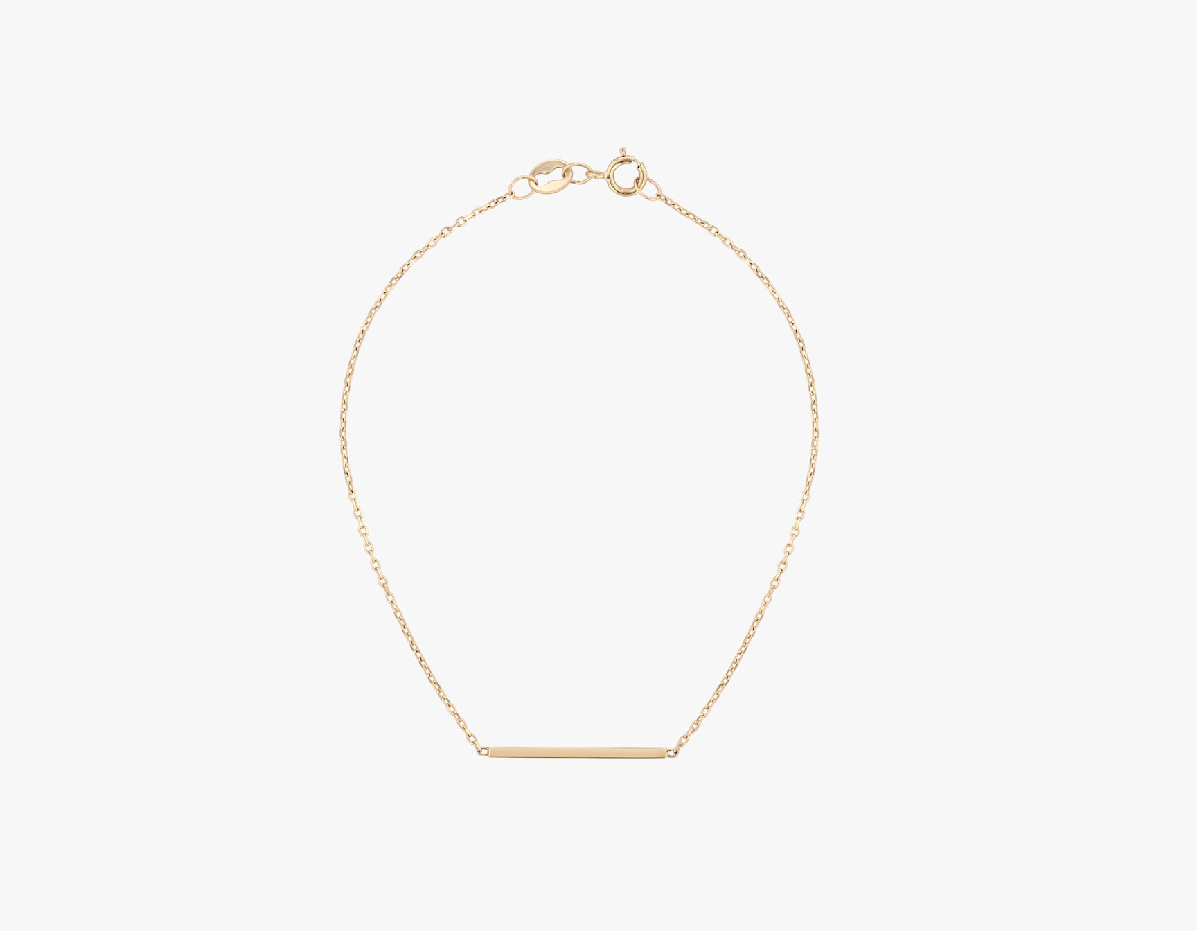 Vrai solid gold Line Bracelet, 14K Yellow Gold