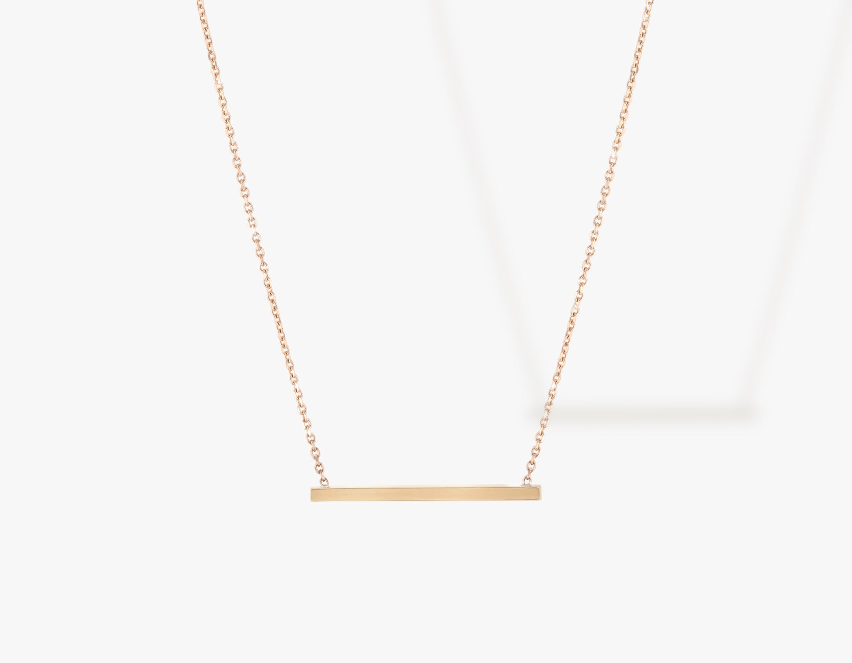 Vrai solid gold Line Necklace, 14K Rose Gold