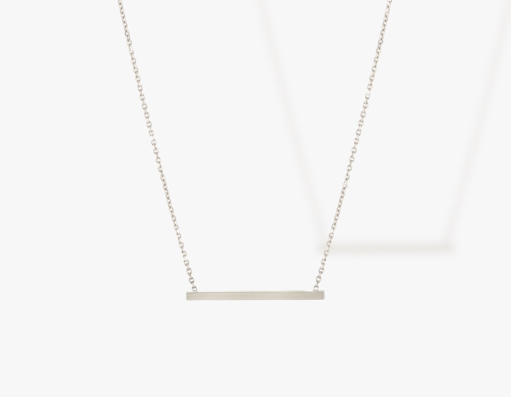 Vrai solid gold Line Necklace, 14K White Gold