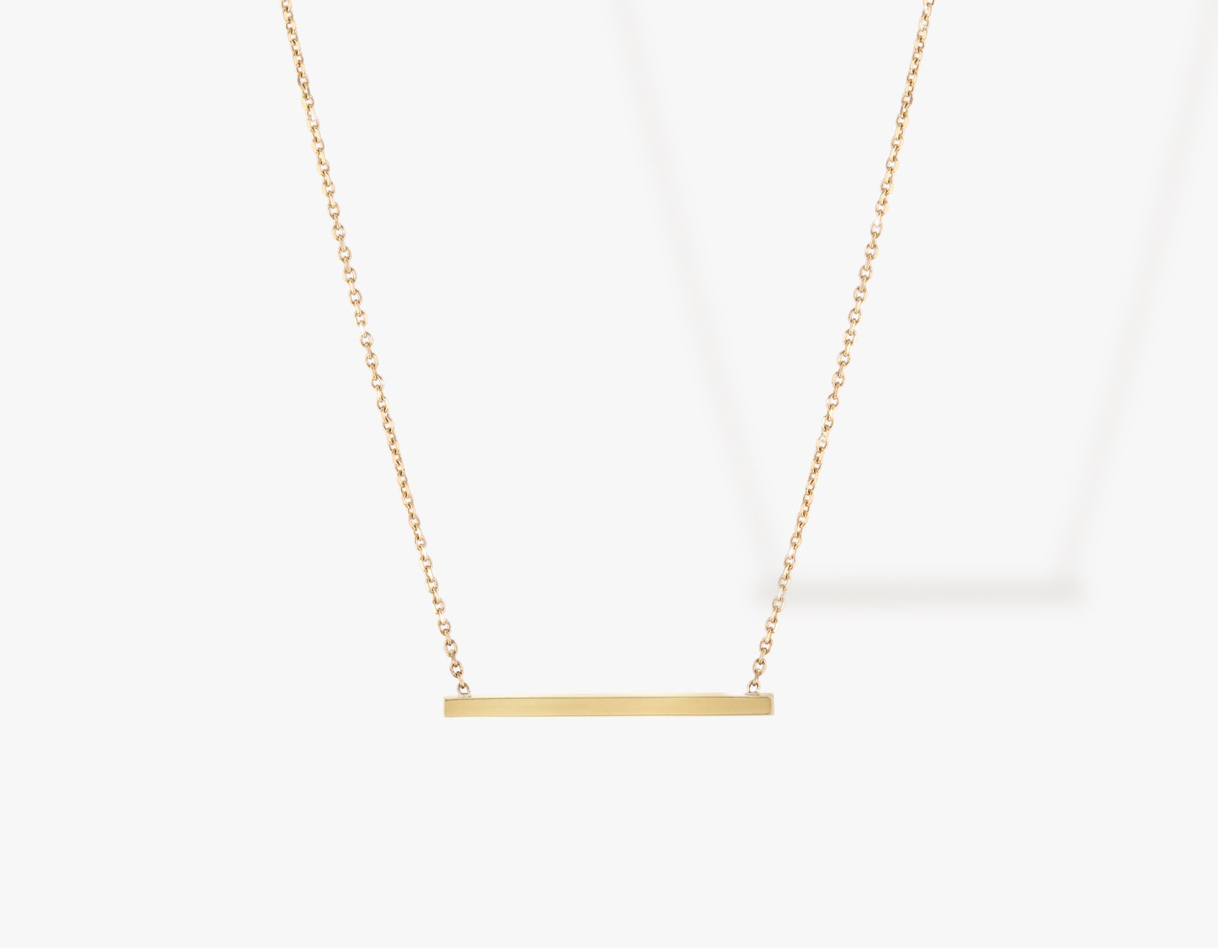Vrai solid gold Line Necklace, 14K Yellow Gold
