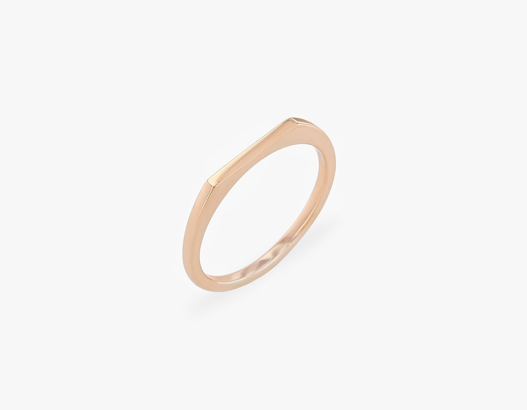 Vrai solid gold Line Ring, 14K Rose Gold