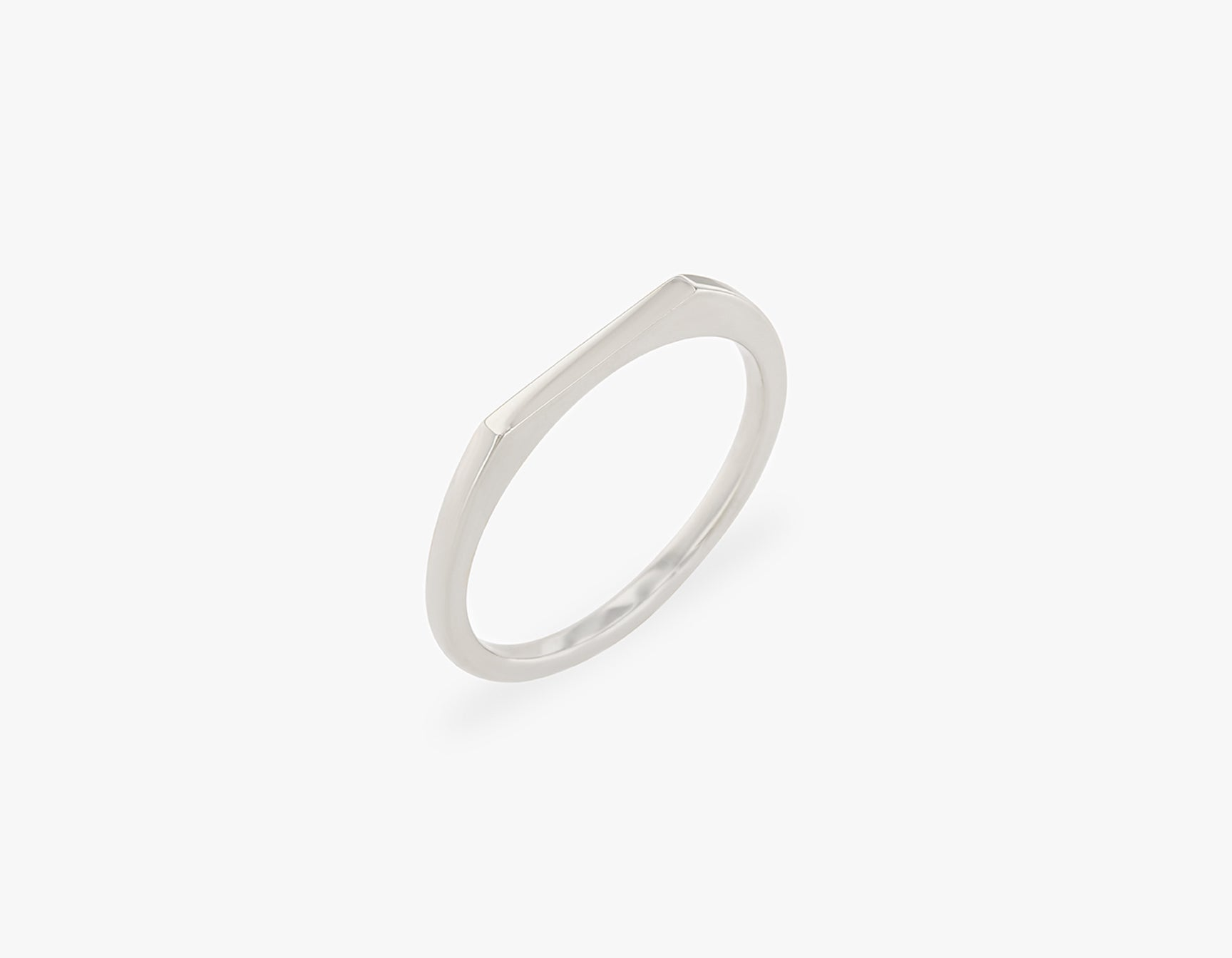 Vrai solid gold Line Ring, 14K White Gold