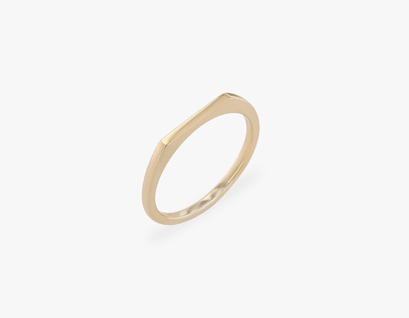 Vrai solid gold Line Ring, 14K Yellow Gold