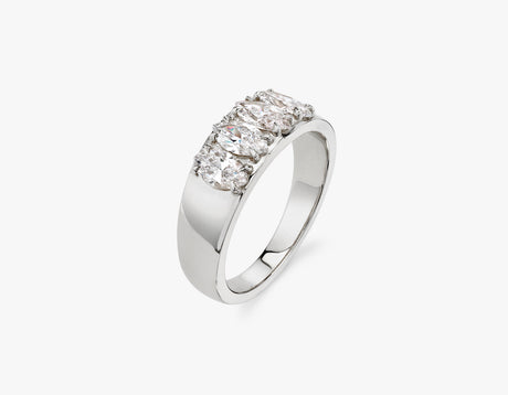 Vrai classic elegant Marquise Diamond Tetrad Band .25ct marquise Diamond Ring, 14K White Gold